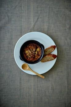 トリッパと白いんげん豆の煮込み